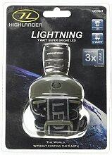 Highlander Skyrider-Taschenlampe, Schwarz