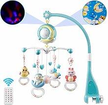 Hihey Mobile Baby bett Mit Projektor Und Lichtern,