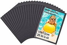 HIIMIEI Magnetische Fototaschen 10 x 15 cm, 20