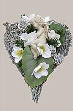 HIKO-EVENTDEKO Grabgesteck Nr.8 Herz mit Engel und