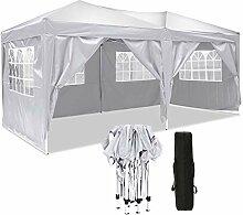 Hikole Pavillon 3x3m/3x6m Pavillon Faltbar
