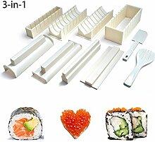 hilai Easy Sushi Maker, 10-teiliges Sushi-Set,