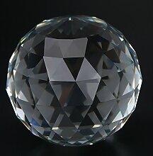 Hilitand 1 Stück Klar Prismen Ball Cut Kristall
