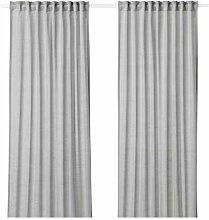 HILJA IKEA Gardinenpaar in grau; 100% Polyester;