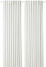 HILJA IKEA Gardinenpaar in weiß; 100% Polyester;