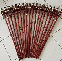 Hillfield® 12 x Gartenfackel Mahagoni Bambus