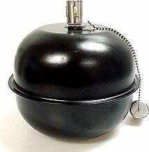 Hillfield Öllampe schwarz, Kugelform mit