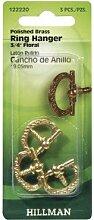 Hillman Ring Kleiderbügel Messing antik vergoldet 3/10,2cm Karte