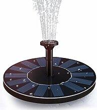 Hiluckey Solar Brunnen pumpe mit 1.4W Monokristalline Solar Panel Freie stehende Brunnen und pumpe für Gartenteich,Vogel-Bad, Fisch-Behälter, kleiner Teich