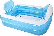 Himmel blau + Pumpe aufblasbare Badewanne faltende Badewanne dicke erwachsene Badewanne keine Abdeckung PVC Kunststoff 152 * 108 * 60 cm