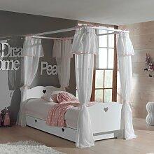 Himmelbett Aldridge mit Textil-Vorhang und