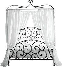 Himmelbett aus Metall, 140 x 190, braun