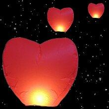 Himmelslaterne Skyballon rot mit Halteleine
