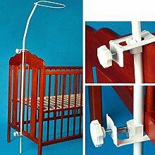 Himmelstange Kinderbett- weiß, stabile Montage ohne verkratzen