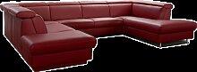 Himolla Sofa Tangram Motion 9701 in U-Form mit