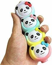 Himolla Spielzeug Geschenk Squeeze Jumbo Stress Stretch weichen vier niedlichen Panda duftenden langsamen aufsteigenden