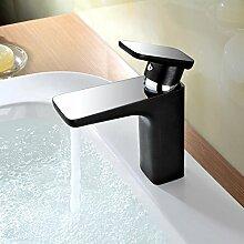 HiMqhy Badezimmer Küche WasserWasserhahn Mode Chrom WasserWasserhahn voll Kupfer Erde Hao Gold Farbe Armatur Waschtisch Waschbecken Waschtisch Armatur Waschbecken mit Schlauch Tippen