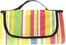 HIMRY 200 x 150 cm Picknickdecke Wasserdichte mit Tragegriff, Picknickdecke Campingdecke Stranddecke, KXD4003 stripe