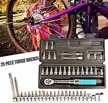 hinffinity 25 STÜCKE Bike Tool Torque Wrench Set