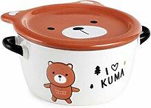 Hinomaru Collection Cute Kuma Bear Suppenschüssel