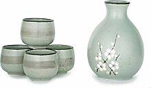Hinomaru Collection Kagetsu Sake-Set, japanisches
