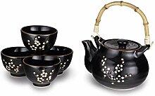 Hinomaru Collection Kagetsu Tee-Set aus glasiertem