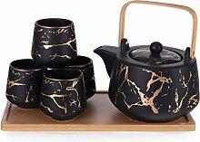 Hinomaru Collection Tee-Set aus Porzellan mit