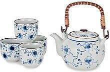 Hinomaru Collection Tee-Set im japanischen Stil,