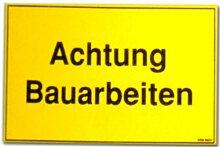 Hinweisschild: Achtung Bauarbeiten - Schild Warnschild Warnzeichen Arbeitssicherheit Türschild Tür Kunststoff Kunststoffschild Geschenk Geburtstag T-Shir