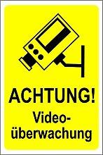 Hinweisschild - Achtung! Videoüberwachung -