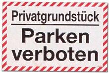 Hinweisschild - Privatgrundstück Parken verboten - Privat Grund Grundstück Auto Schild Warnschild Warnzeichen Arbeitssicherheit Türschild Tür Kunststoff Kunststoffschild Geschenk Geburtstag