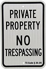Hinweisschild Texas Private Property No