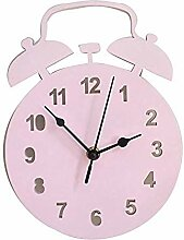 HIOLYU Wanduhr 22Cm rosa Weckerform geeignet für