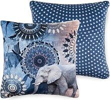 hip Dekokissen Bjirke, mit Mandala und Elefant