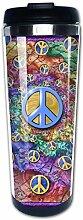 Hippie Art Spirale Peace and Love Zeichen