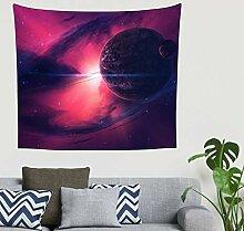 Hippie Fantasie Nebel Rosa Planeten Weltraum
