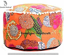 Hippie Gypsy Boho Decor Wohnzimmer Baumwolle Handgemachter Designer Sitzsäcke Ethnic Platz Pouf Bohemian Dekorative Indian Kantha Boden Kissen & Kissen Vintage Fußhocker & Pouf otoomans