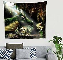Hippie Lustiges Kleines Grün Dinosaurier Höhle