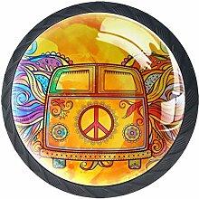Hippie Oldtimer EIN Mini Van 4 Stück