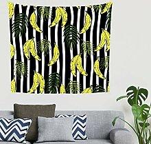 Hippie Tropisch Gelbe Banane Grün Lässt Streifen