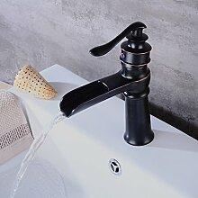 HiPPiH Single Lever Badezimmer Wasserhähne Mono Waschbecken Duscharmatur Wasserhahn Waschbecken Wasserhahn Wasserfilter Wasserhahn mit bronzefarben.