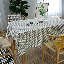 Hippolo Plaid Rechteckige Tischdecke Leinen Baumwolle Geometrische Gedruckte Küche Hochzeit Bankett Dekoration Tischdecke (140*250cm)