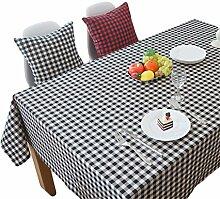 Hippolo Wachstuch Tischdecke Karo Eckig Abwaschbar Schmutzabweisend Tischtuch Pflegeleicht Haus Dekorationen (90*90, Rot und Schwarz)