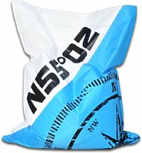 HIPSIT Sitzsack 100% Handarbeit (Ocean Blue, M)