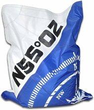 HIPSIT Sitzsack 100% Handarbeit (Royale Blue, S)