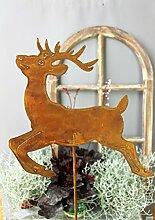 Hirsch 118cm Rost Gartendeko Edelrost Gartenstecker