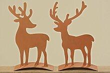 Hirsch stehend Weihnachtsdeko Advent Weihnachten Herbst Gartenfigur Gartendeko H 50 cm Stückpreis