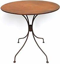 Hirsch Terracotta Tisch aus Metall Ø 72 cm stabil