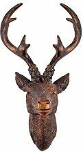 Hirschgeweih 10 Ender - Wand Deko in Bronze Optik