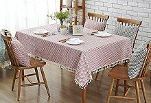 Hirtenart Tischdecke Tuch Tischdecke Tischdecke ( Farbe : Pink , größe : 140*140cm )